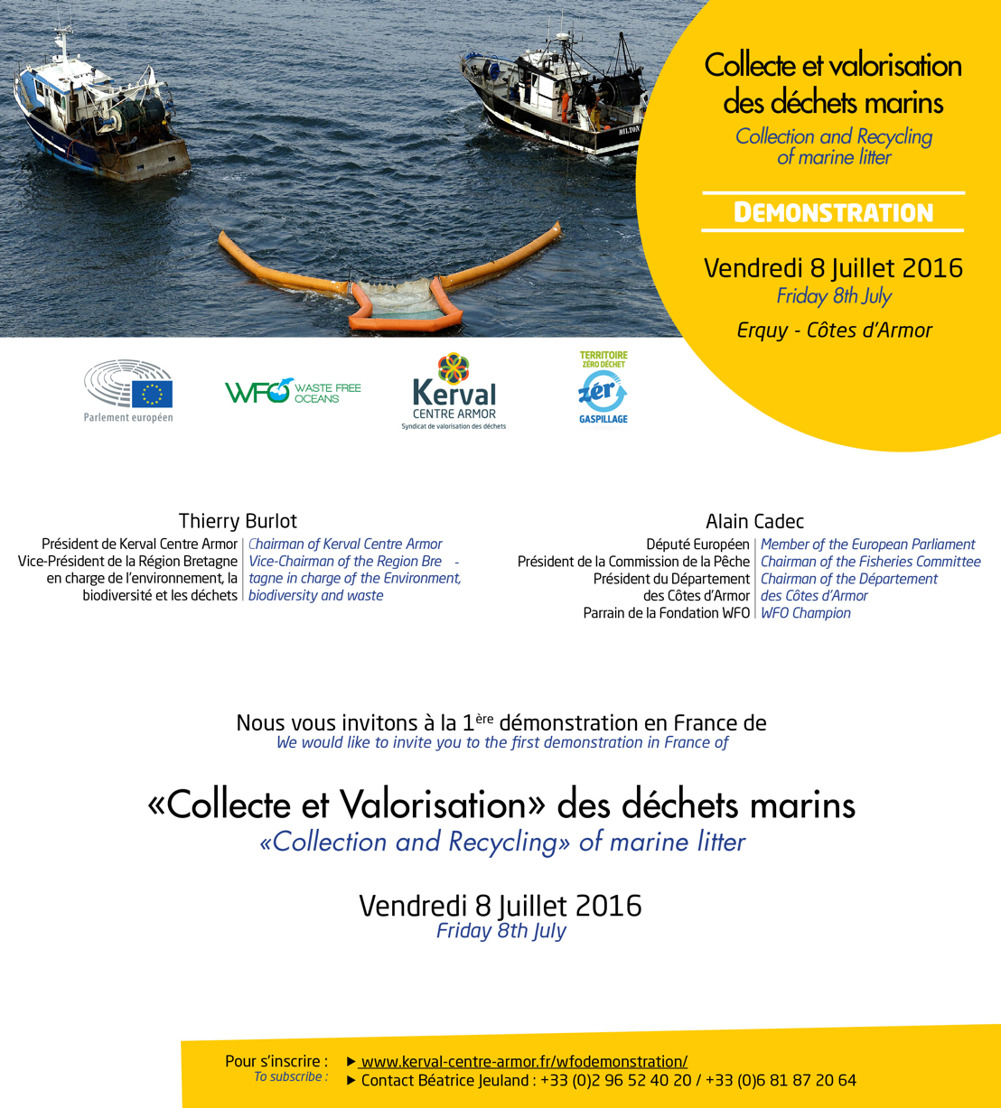 Invitation à la demonstration de collecte et valorisation des déchets marins