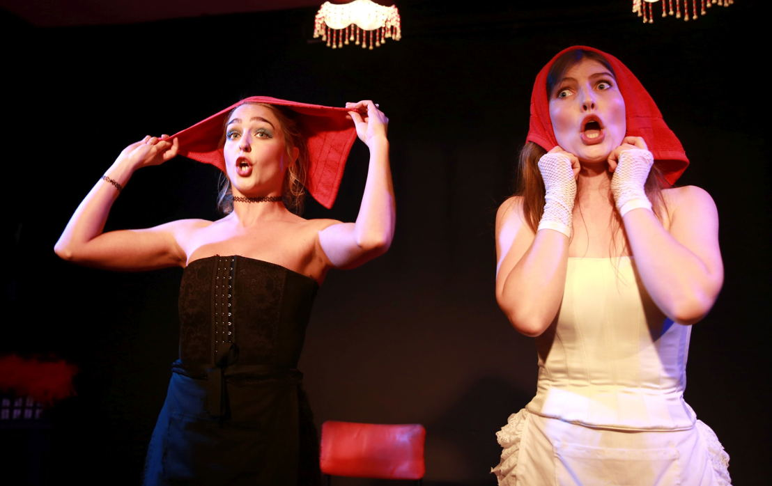 Donna Cormack-Thomson & Jamie-Lee Money of In Whorefish Bloomers - A Waitress' Lament. Image by Nardus Engelbrecht