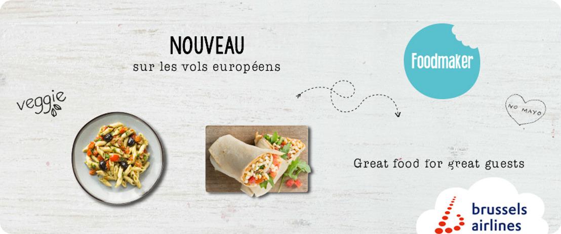 Brussels Airlines et Foodmaker mettent les petits plats dans les grands