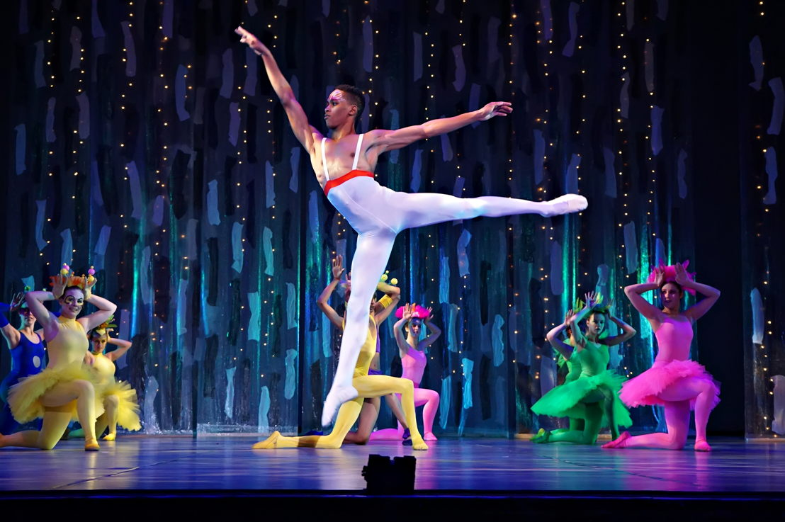 Mahlatse Sachaneas as Oberon in Johannesburg Youth Ballet's A Midsummer Night's Dream