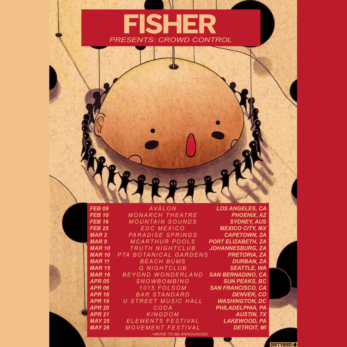 FISHER Returns To DIRTYBIRD With Crowd Control