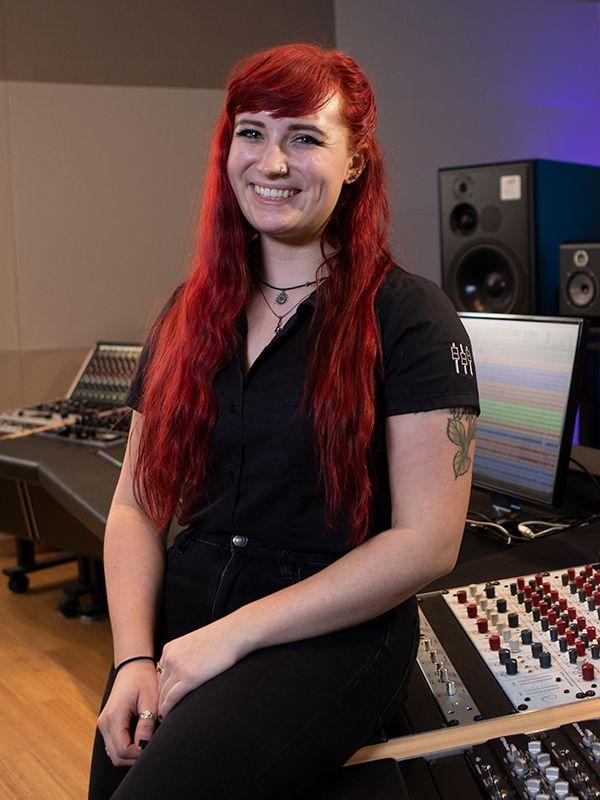 Sweetwater Studio's Assistant Engineer Rachel Leonard - Photo by Erick Anderson