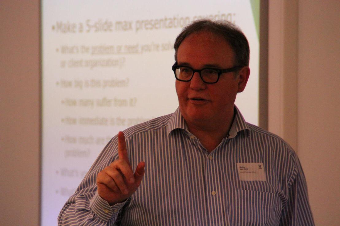 Vlerick professor Walter Van Dyck speelt een belangrijke rol in de bootcamps