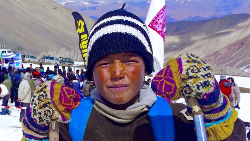 Local boy skier