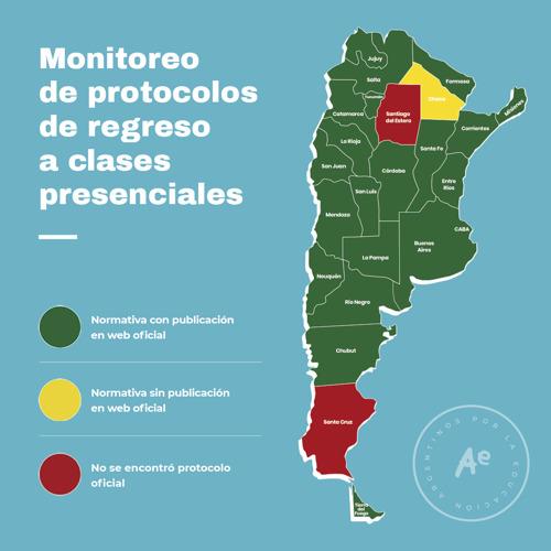 Vuelta al aula: aún hay 2 provincias que no cuentan con protocolos escolares