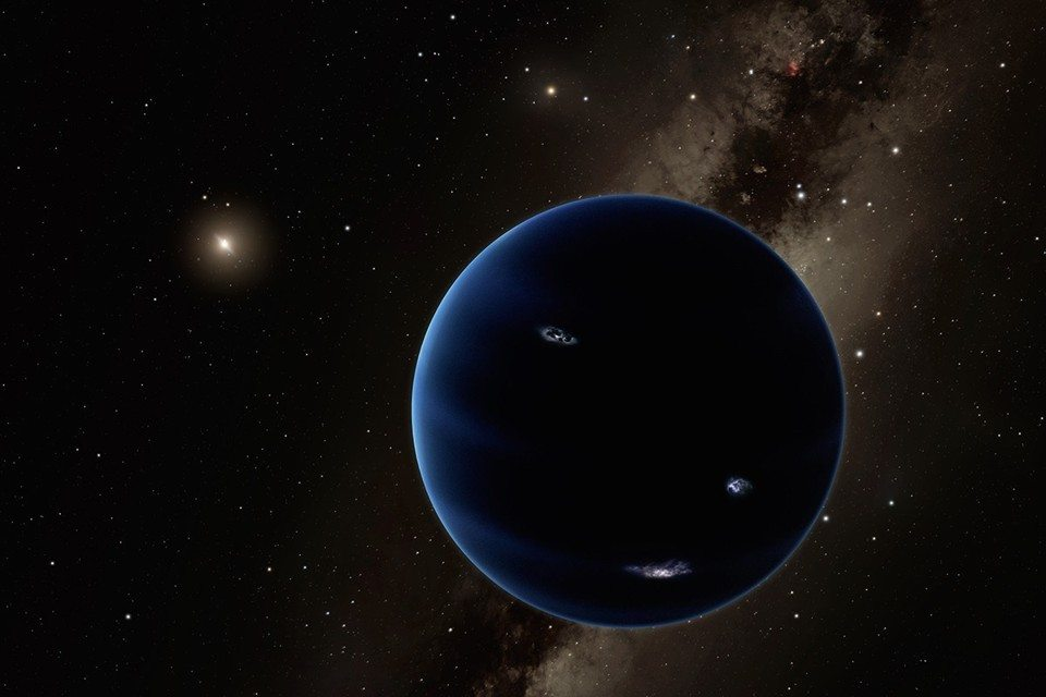 Planet 9 is predicted to be a super Earth, about 10 times the mass and up to four times the size of our planet. Image: supplied.