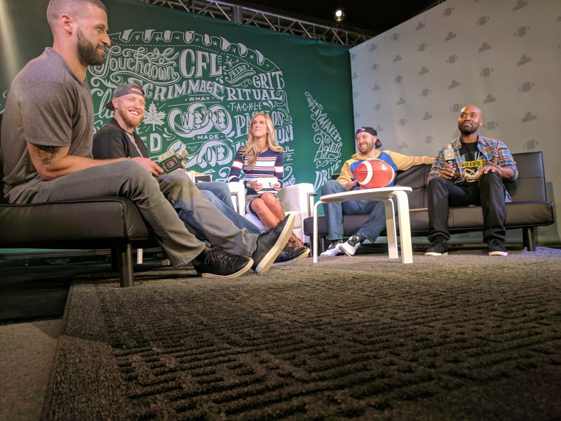 #MarksCFLWeek Live with Brodie Lawson & the QB Club. Photo credit: CFL