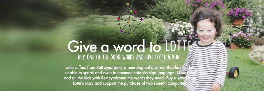 Crowdfunding-campagne 'Give a Word to Lotte' laat Rett meisjes communiceren