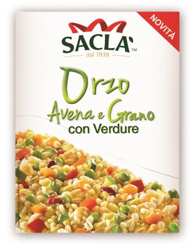 SACLA': ARRIVANO I PIATTI PRONTI CON ORZO, AVENA, GRANO E VERDURE