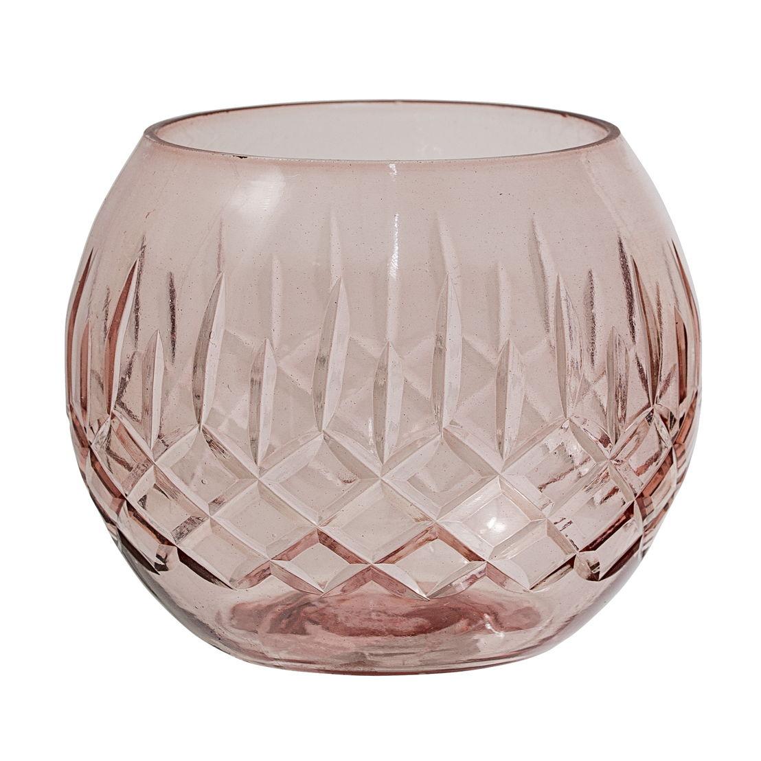 Bloomingville Waxinelichthouder glas, rosé - €11
