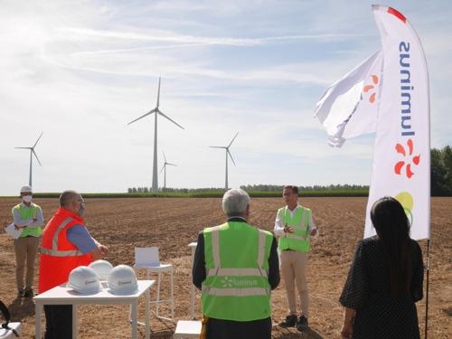 Preview: Minister Marghem bezoekt werf voor de uitbreiding van het windturbinepark van Tourpes