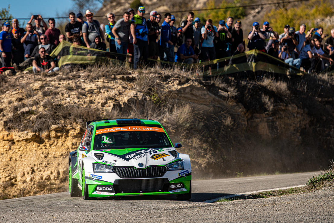 RallyRACC Catalunya: Jan Kopecký and Kalle Rovanperä crown season for ŠKODA by securing the WRC 2 Pro manufacturers' title*