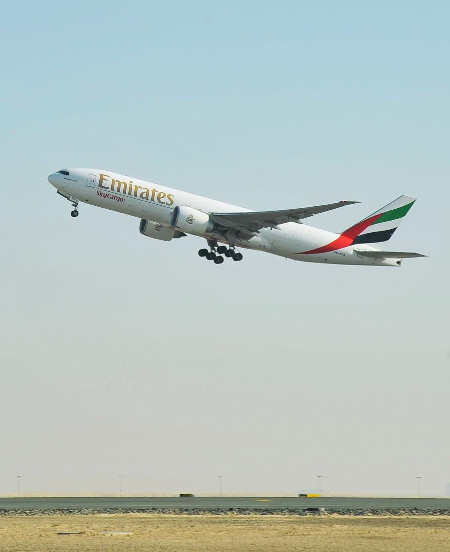 EK9708 takes off from DWC heading to Ouagadougou in Burkina Faso.