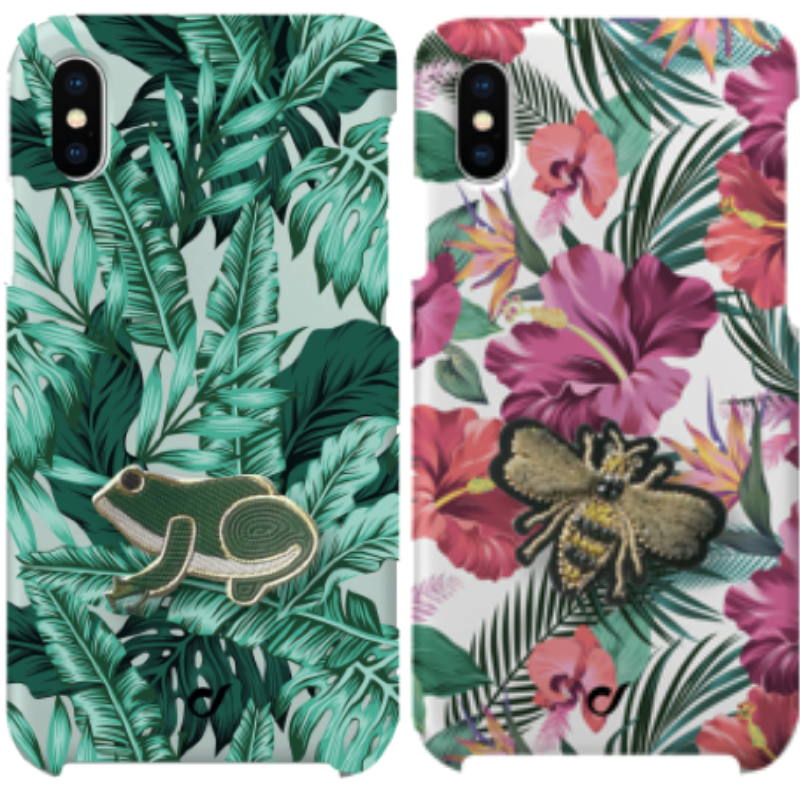 Welcome to jungle (foto 1) - Beschikbaar voor: iPhone 8/7/6, iPhone XS/S, iPhone XR, Samsung Galaxy en Huawei P20 Lite; Tropical is the new black (foto 2) - Beschikbaar voor iPhone XS/S, iPhone XR, iPhone 8/7/6 Adviesprijs: € 19,95
