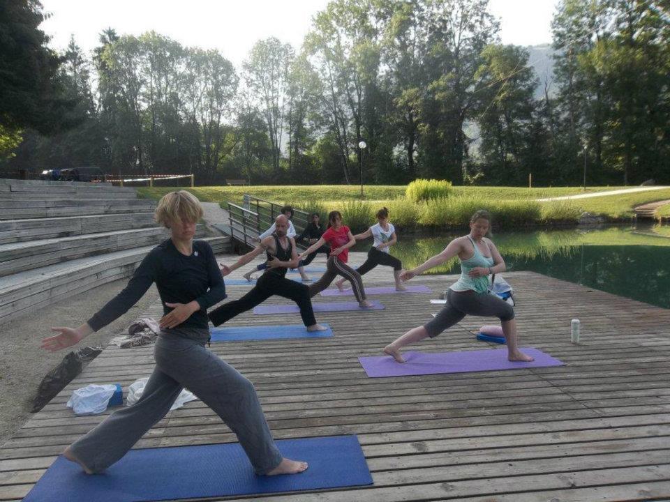 Yoga in de Franse Alpen