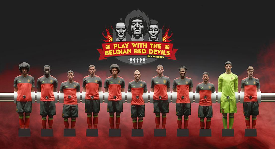 Carrefour joue avec les Diables Rouges