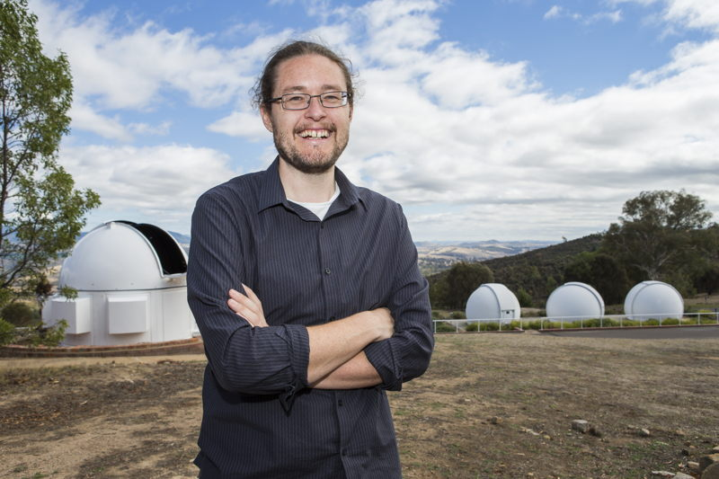 Dr Brad Tucker from the ANU Research School of Astronomy and Astrophysics. Image: Stuart Hay, ANU.