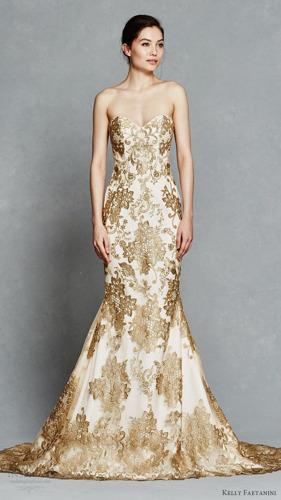 5 vestidos de novia dorados en Pinterest para probar algo nuevo en tu gran día