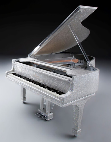 INFLUENTIAL SHEIKH BOUGHT A £420,000 BRITISH PIANO STUDDED WITH HALF A MILLION SWAROVSKI CRYSTALS