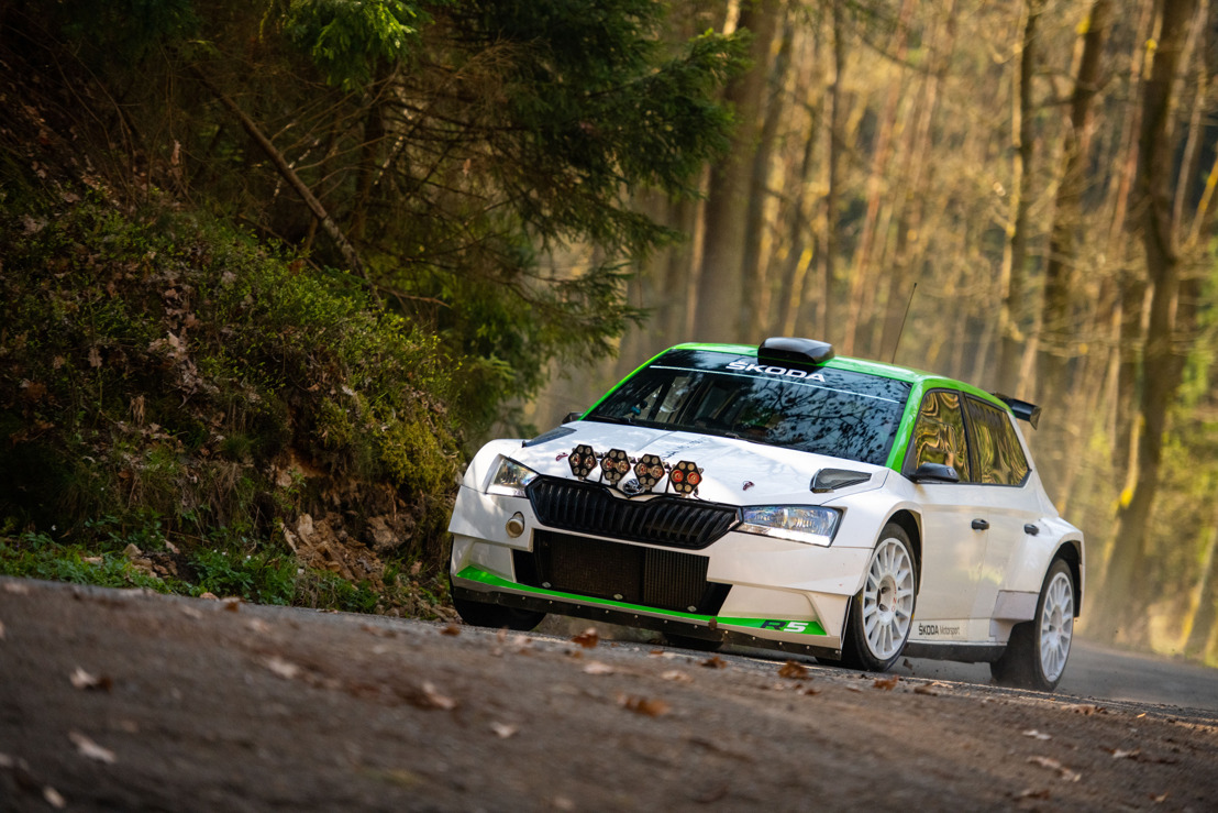 Competitive debut of the updated ŠKODA FABIA R5 in Czech Rally Championship