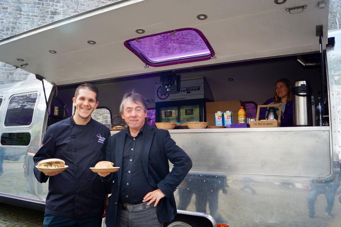Kevin Roquet d'Oh Chef et Michel Vandenbosch, le président de GAIA. © GAIA