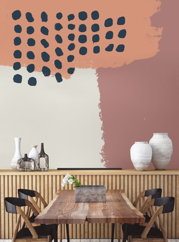 Neutral Abstract Painting Wall Mural