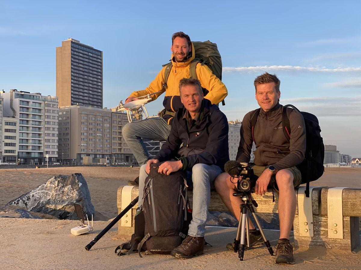 Arnout samen met Philippe en Ruben (c) De chinezen - VRT