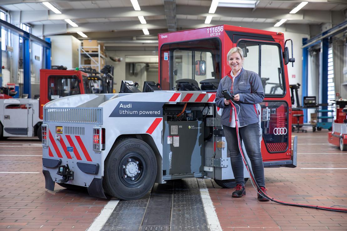 Audi installeert gebruikte lithium-ionbatterijen in fabrieksvoertuigen