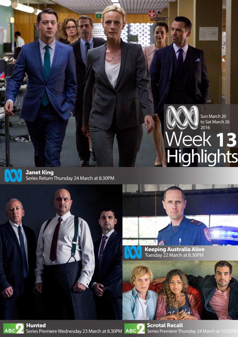 ABC TV Highlights - Week 13