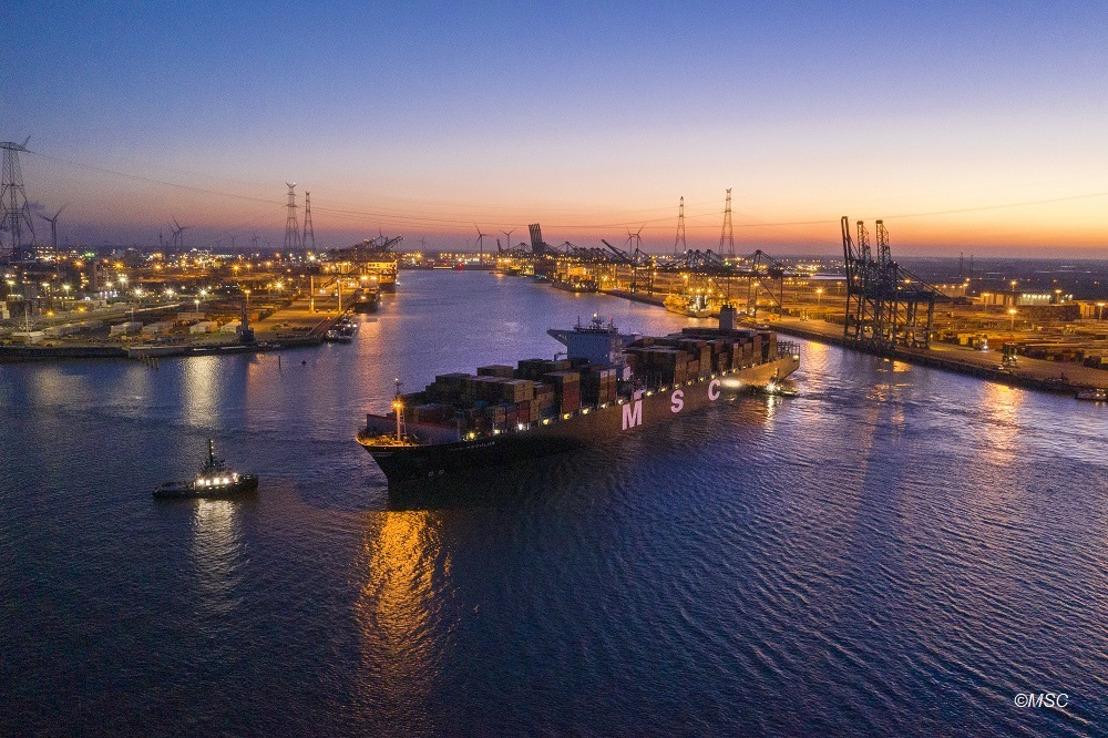 Port d'Anvers : record de profondeur battu à Deurganckdok