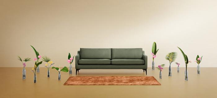 165 petflessen omgetoverd tot streelzachte sofa