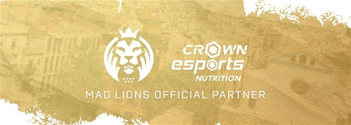 CROWN ESPORTS NUTRITION, MAD LIONS SIGN PARTNERSHIP DEAL