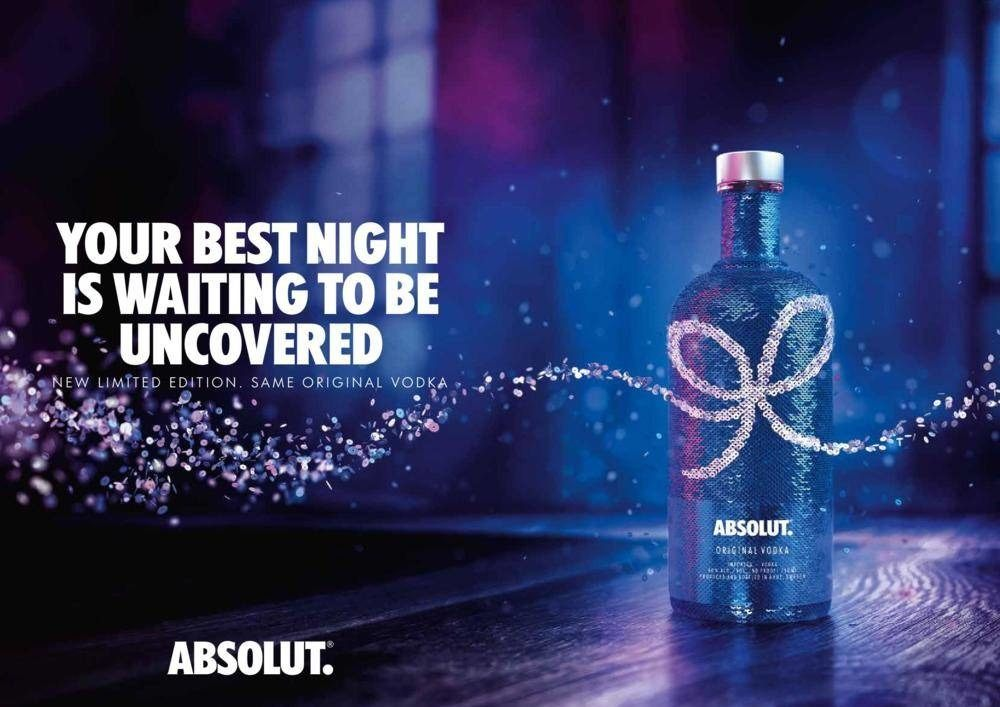 Absolut Uncover Sequin