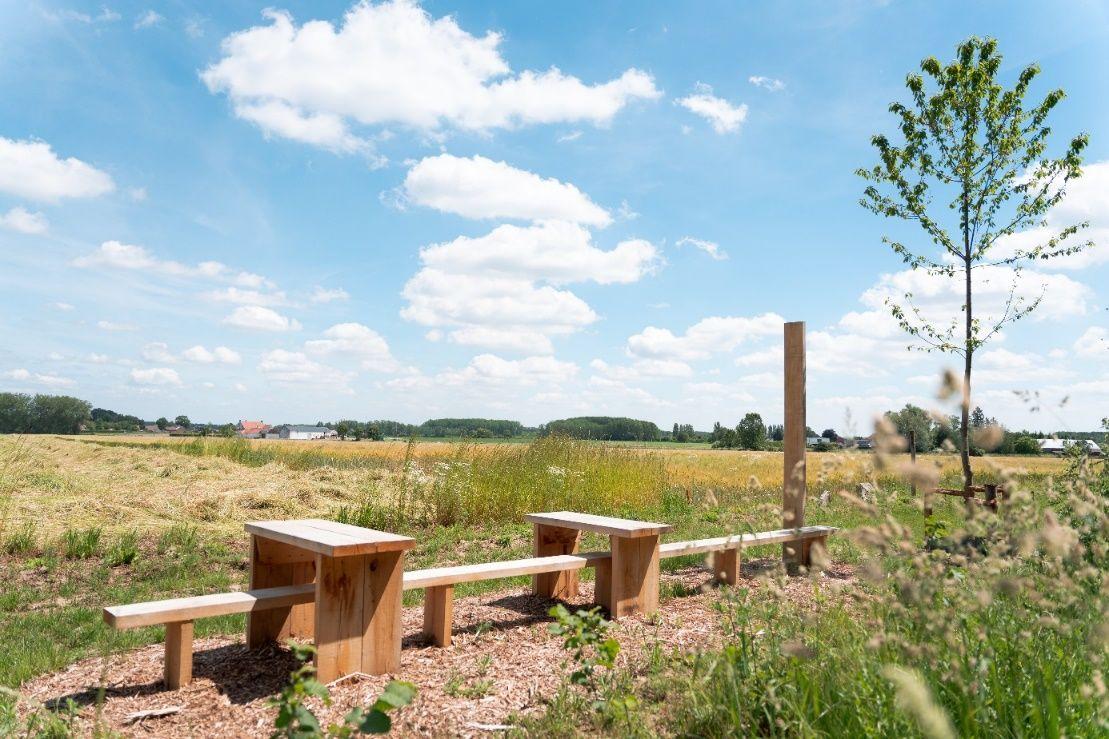 Het landschapsperron in Zoutleeuw maakt genieten van het mooie Getelandschap aantrekkelijker