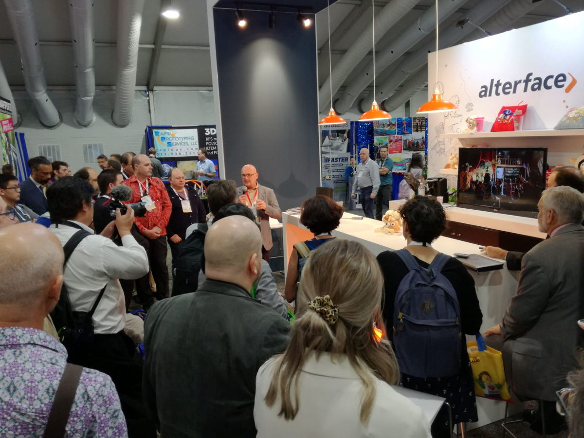Press Conference on Alterface booth at IAAPA 2019