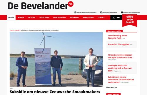 De Bevelander noemt Zeeuwsche Zoute in artikel over subsidie van Zeeland in Stroomversnelling