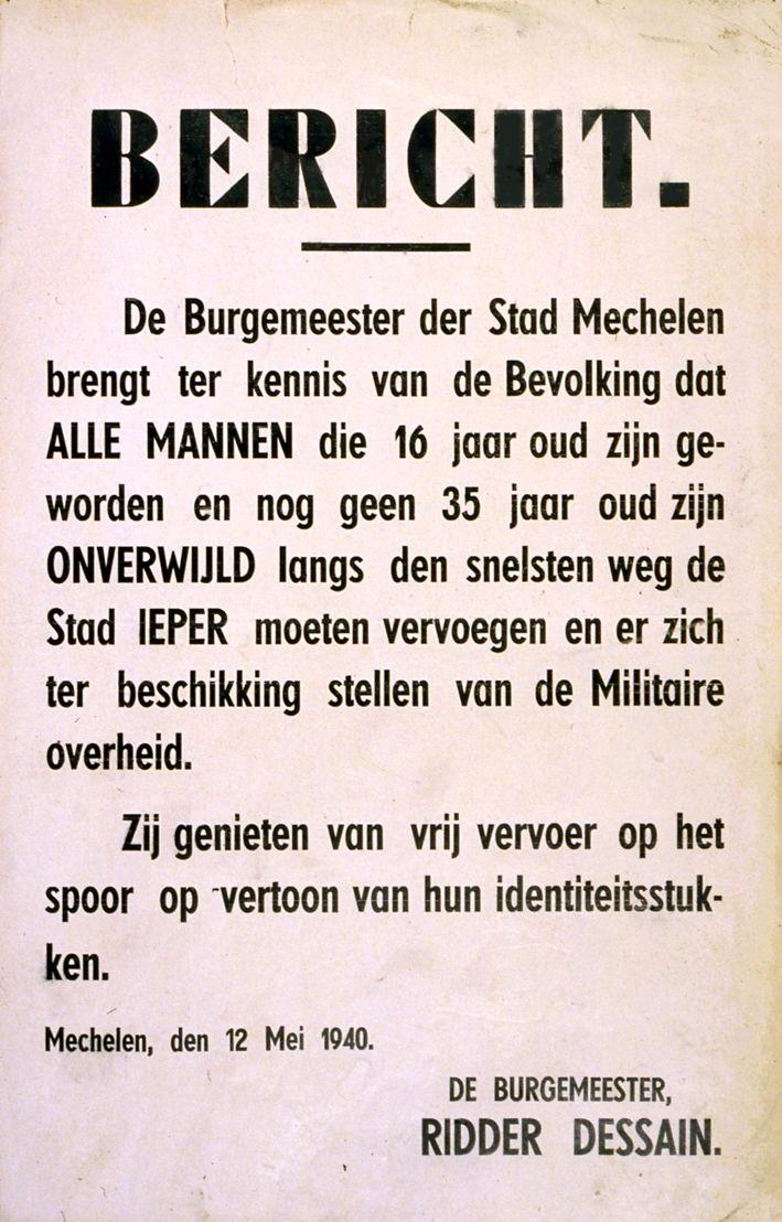 Oproepingsbevel (Mechelen, mei 1940)