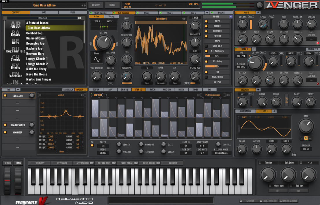 Vengeance Sound Offers 50% Black Friday Discount on Avenger Synth