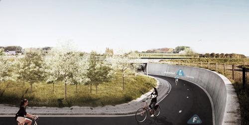 4 km nieuwe fietssnelwegen en een tunnel