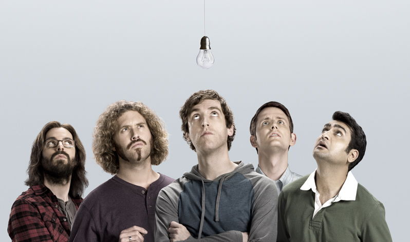 Silicon Valley - Martin Starr, T. J. Miller, Thomas Middleditch, Zach Woods, Kumail Nanjiani, - (c) HBO