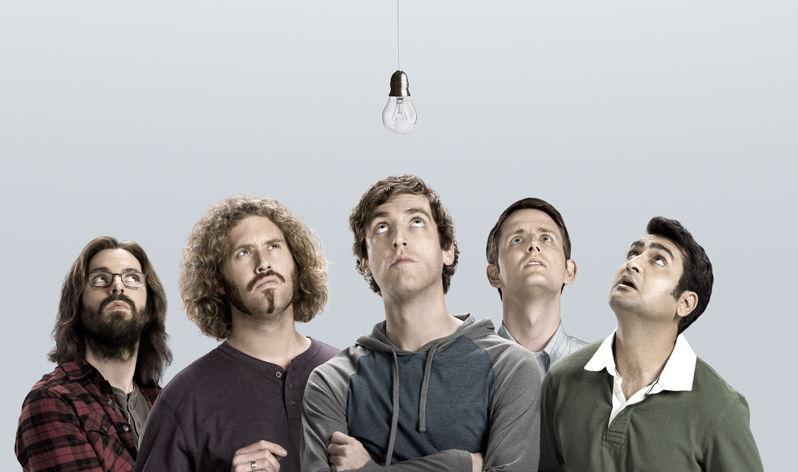 Silicon Valley - Martin Starr, T. J. Miller, Thomas Middleditch, Zach Woods, Kumail Nanjiani, - (c) HBO