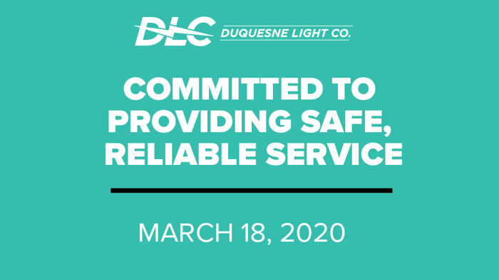 Duquesne Light Assists Customers by Waiving Late Fees; Ensuring Reliability