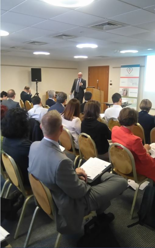 Peter Curle from Ernst & Young during his presentation on the MDR.