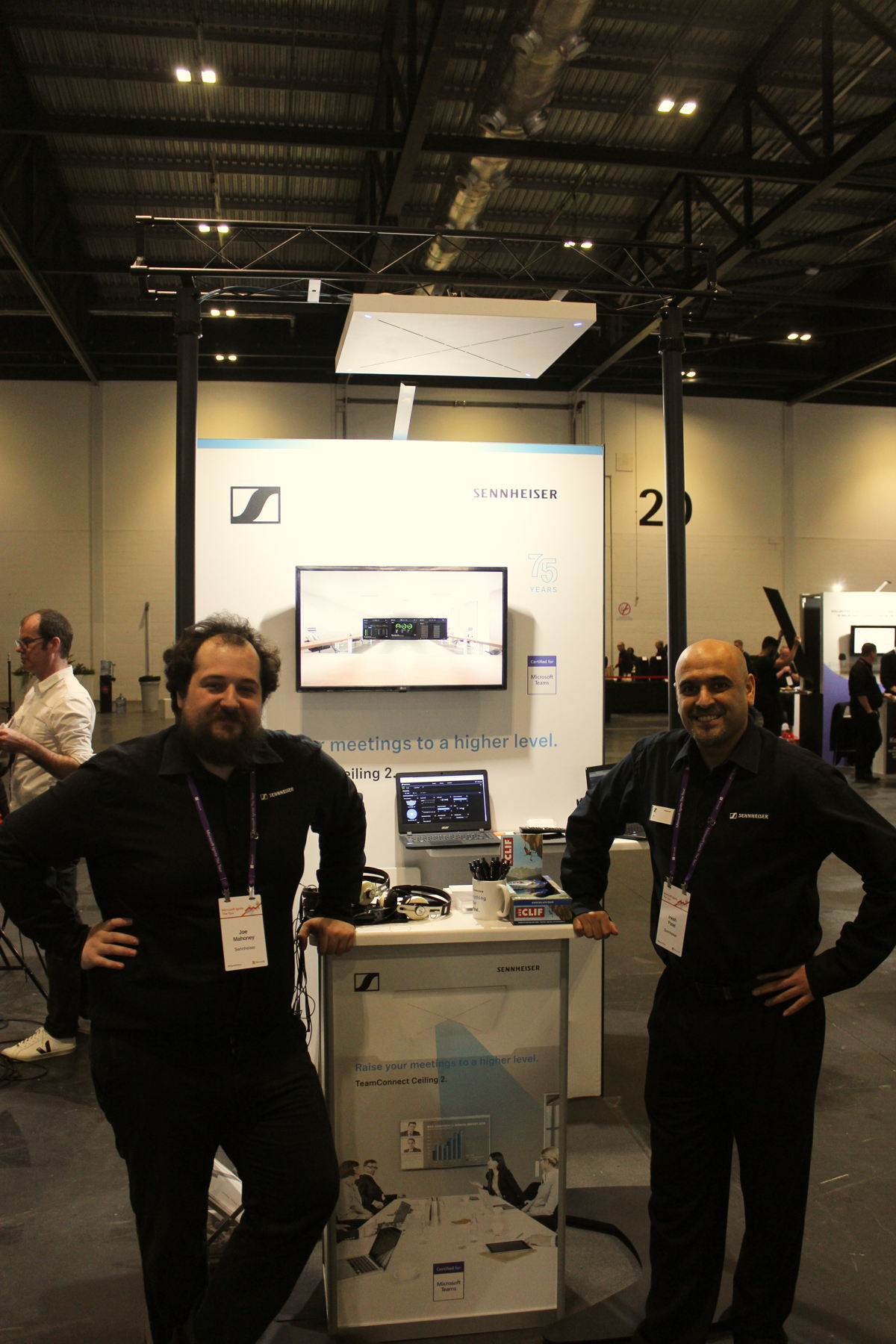 From left to right: Joe Mahoney, Customer Development & Application Engineer and Inesh Patel, Channel Sales Manager - Pro Audio Solutions at Sennheiser
