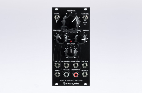 Erica Synths Black Spring Reverb Offers a Different Take on Spring Reverberation Units