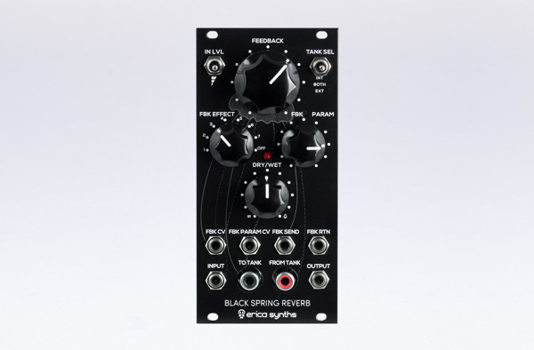 Preview: Erica Synths Black Spring Reverb Offers a Different Take on Spring Reverberation Units