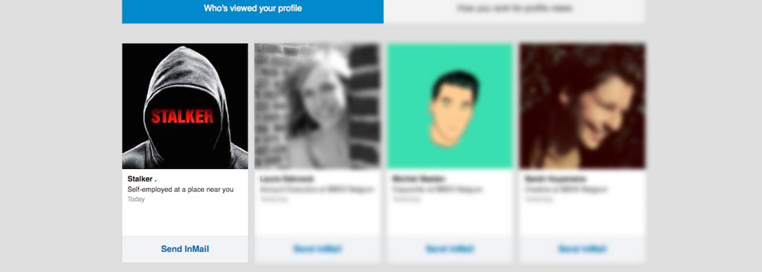 BBDO gebruikt de creepy kant van Linkedin om Stalker te lanceren op Vier