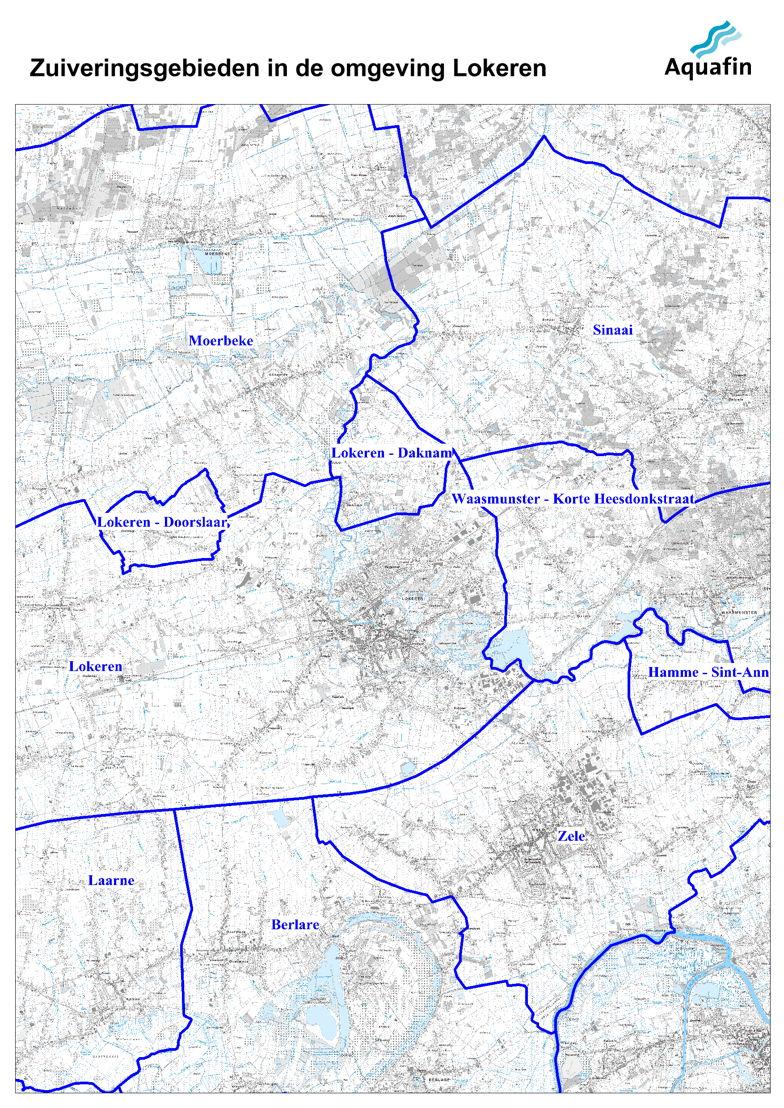 Waar wordt mijn afvalwater gezuiverd: zuiveringsgebieden in de omgeving van Lokeren