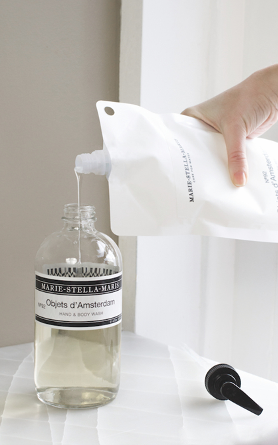 Marie-Stella-Maris introduceert gloednieuwe refill verpakking voor hand- en lichaamszeep