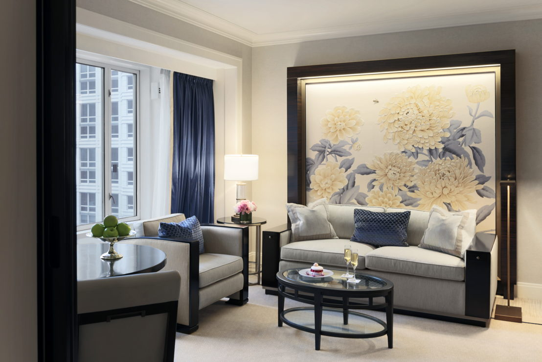Premier Deluxe Suite Living Room The Peninsula Chicago